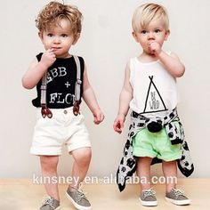 Look what I found Via Alibaba.com App: - KS10040B 2016 Aliexpress hot style boys tank top and shorts sets new kids clothes boys