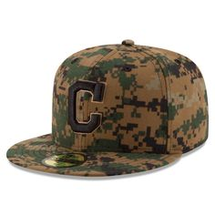 59229fda291 Cleveland Indians New Era 2016 Memorial Day 59FIFTY Fitted Hat - Digital  Camo