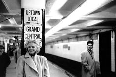 Marilyn Monroe, Grand Central Station, on March 24, 1955