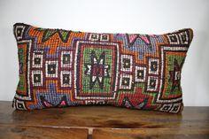 12 x 24 inches Decorative Kilim PillowAztec Lumbar by SebilPillows