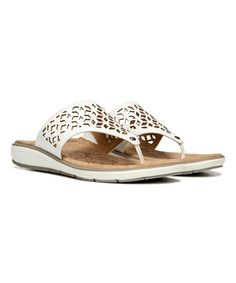 Look what I found on #zulily! White Ginny Leather Sandal #zulilyfinds