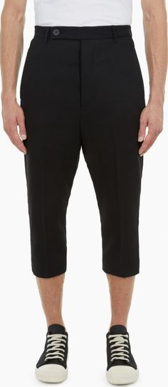 Rick Owens Black Astaire Trousers The Rick Owens Astaire Trousers for AW16, seen here in black. - - Crafted in Italy from lightweight wool crepe, these Astaire™ trousers from Rick Owens are a relaxed style with a slightly cropped hem. http://www.comparestoreprices.co.uk/january-2017-6/rick-owens-black-astaire-trousers.asp