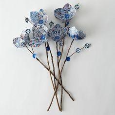 Flores de papel ( tutoriales) [] Paper flowers (