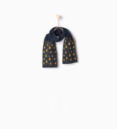 Knit scarf with beads ZARA KIDS