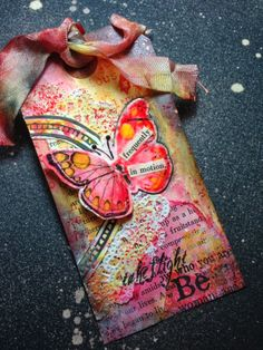 art by accident: Butterfly Tag for swap