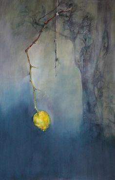 Bittersoet, #lemon, oil on canvas painting. SOLD