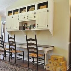 Cabinets with desk chairs