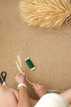 Simple, elegant wheat wreath DIY takes about half an hour to make.The Art of Doing Stuff Diy Wreath, Stuff To Do, Elegant, Scissors, Simple, Fall, Holiday, Diy Ideas, How To Make