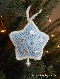 Crochet by Jolien: Gratis Patroon Kerstster, #haken, Kerstmis, #crochet, free pattern (Dutch), Christmas, star