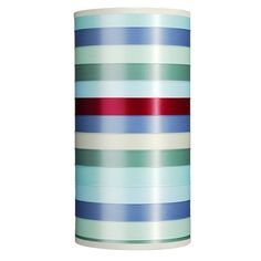 ribbon striped shade: large cylinder by isabel stanley design   notonthehighstreet.com