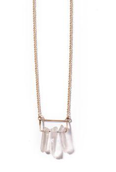 Triple Quartz Necklace