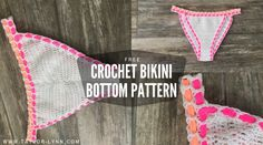 So now that you have made my Simply Cute Bikini Top you are probably thinking about how cute a crochet bikini bottom would be! Can't say I blame you because I was thinking the same