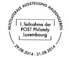 Neuer luxemburgischer Sonderstempel am Wochenende in Haldensleben zu haben!
