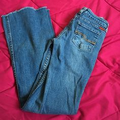 "Distressed jeans. Size 0-1 juniors. See pics. Excellent condition. Flare. Inseam 30"". Price firm unless bundled. See many more jeans in my closet. Jeans Flare & Wide Leg"