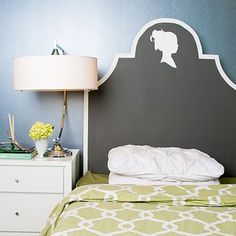 Painted Headboard Silhouette.
