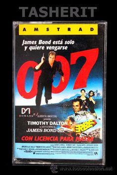 007 LICENCIA PARA MATAR - AMSTRAD CPC CINTA CASETE VERSION ESPAÑOLA ERBE JUEGO CASSETTE DOMARK