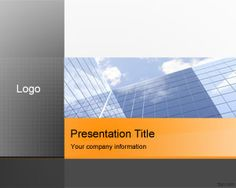 New original business PowerPoint template for presentations with high quality business picture and office in the slide design