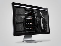 Webdesign for the Norwegian rock band Midnight Ministers.