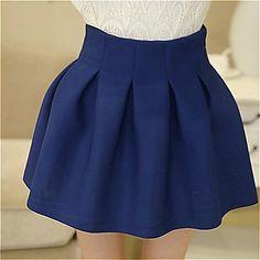 kvinnors hög midja veck paraply mini kjol (fler färger) – SEK Kr. 107