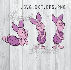 Piglet  SVG Cutting file, Disney Vinyl design, heat transfer png, svg, eps, dxf files for Silhouette, Cricut by SVGsilhouette on Etsy