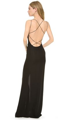 Olcay Gulsen Crossed Back Maxi Dress - Black | SHOPBOP.COM created by #ShoppingIS