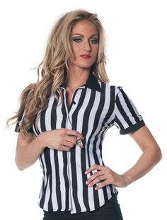 Make the right call by choosing this referee shirt Halloween costume! Not your ordinary referee outfit, this referee shirt is slightly fitted for a winning . Referee Costume, Costume Shirts, Adult Costumes, Costumes For Women, Halloween Costumes, Adult Halloween, Sports Costumes, Halloween Outfits, Halloween Ideas