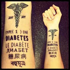 type+1+diabetes+tattoo+designs