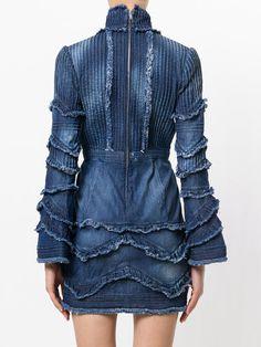 Dsquared2 ruffled denim dress