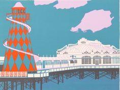 West Pier, Brighton by Geoffrey Elliott