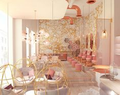 nail studio project in Dubai by @vosarchitects Wabi Cloud wallpaper