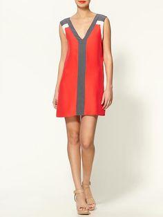 Parker - Color Block Silk Premium Cocktail Party Dress