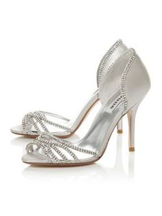 96aadbd63be0 Dune Haute Two Part Diamante Sandals Silver - House of Fraser Diamante  Sandals