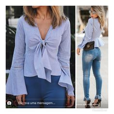 Office Outfits, Casual Outfits, Cute Outfits, How To Wear Shirt, Lace Tops, Casual Chic, Shirt Blouses, Blouse Designs, Ideias Fashion