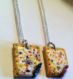 Best Friends Pop Tart Pendants BFF Necklaces by GuiltfreeDecadence, $18.00