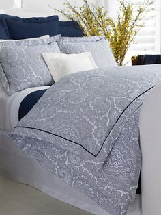 Ralph Lauren Home Navy Brentwood Paisley Duvet. Nobody does navy and white like Ralph.