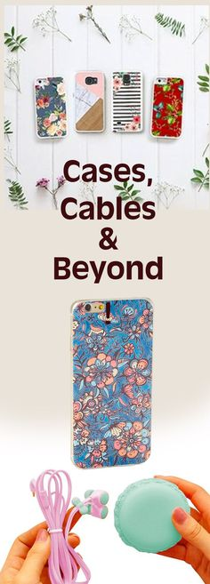 beautiful, fun, whimsical cases and cables and chargers for cell phones. #cellphonesaccessories #iphoneonly #cables #chargers #gifts #affiliatelink