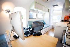 1964 Airstream Globetrotter modern renovation - mobile office