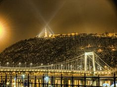 The Bridge Elisabeth and the Mountain Gellért, Budapest, Hungary