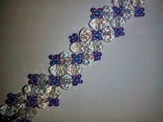 Браслет из бисера и бусин. Tutorial: beaded bracelet - YouTube