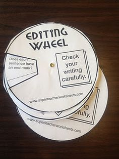 Editing wheel for writing.