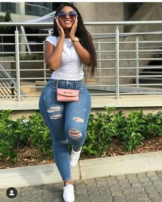 Best Baddie Outfits Part 13 Summer Outfits, Casual Outfits, Cute Outfits, Fashion Outfits, Curvy Fashion, Plus Size Fashion, Moda Jeans, Curvy Girl Outfits, Thick Girls Outfits