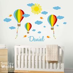 Genial Love The Hot Air Balloons Decal On The Wall! | Home   Objects | Pinterest | Hot  Air Balloons, Air Balloon And Balloon Wall