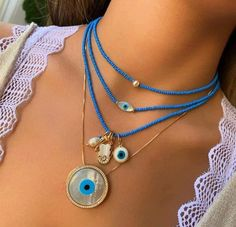 Seed Bead Jewelry, Cute Jewelry, Boho Jewelry, Beaded Jewelry, Handmade Jewelry, Fashion Jewelry, Satanic Jewelry, Evil Eye Jewelry, Evil Eye Necklace