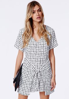front tie dress / Missguided