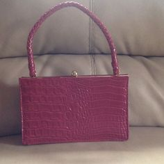 Like New Red Evening Bag/Satchel.