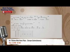 Je T'Aime Moi Non Plus - Serge Gainsbourg Vocal Backing Track with chord...