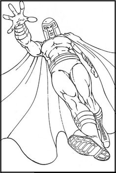 Fighting x men wolverine vs magneto coloring pages x men for Magneto coloring pages
