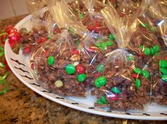 Christmas Trash recipe - I like how she adds in the M and M's after.....
