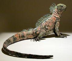 Nick Mackman - Clay Lizard Sculptures