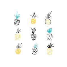 Pineapple Illustrated Art Print